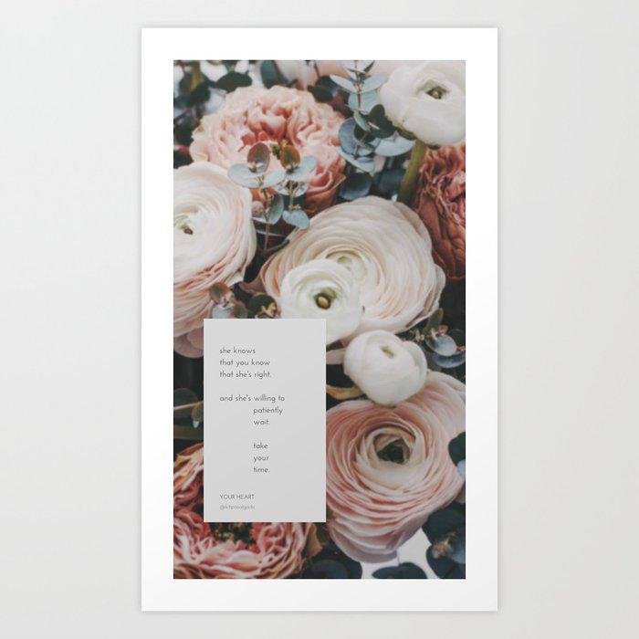 POETRY - Your Heart Art Print
