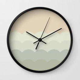 BROOKE BLUSH - Mid Century Modern Abstract Graphic Design Wall Clock