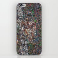free shipping iPhone & iPod Skins featuring Owl in a Birch Grove by Juliana Kroscen