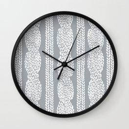 Cable Grey Wall Clock