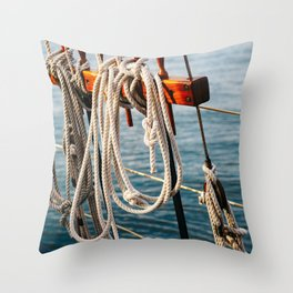 Charleston Sailboat II Throw Pillow