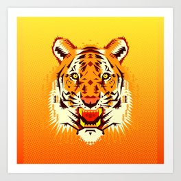 Geometric Tiger Art Print