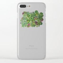 Watercolour Succulents Clear iPhone Case