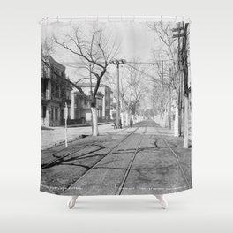 Esplanade Avenue, New Orleans, 1900 Shower Curtain