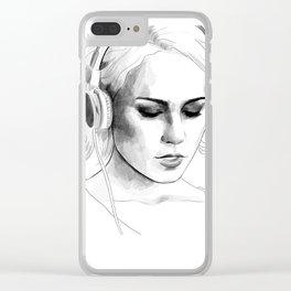 Sense8 Riley Blue - Character portrait series Clear iPhone Case