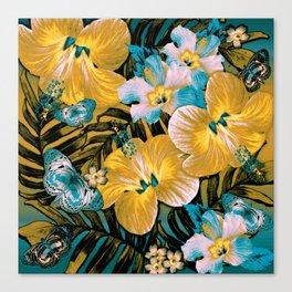 Golden Vintage Aloha Canvas Print