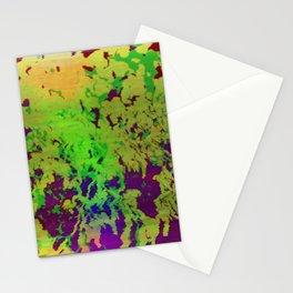 Flower glitch TV Stationery Cards