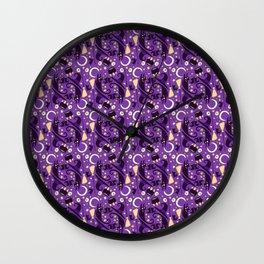 witch pattern Wall Clock