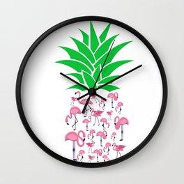 Humorous Plant Genus Fruit Graphic Tee Shirt Gift Funny Flamingo Pineapple Awesome Enzyme Men Women Wall Clock