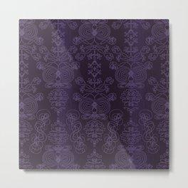 Elena, Yankees blue ornate Metal Print