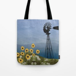 Wind Pump American Style Windmill Tote Bag