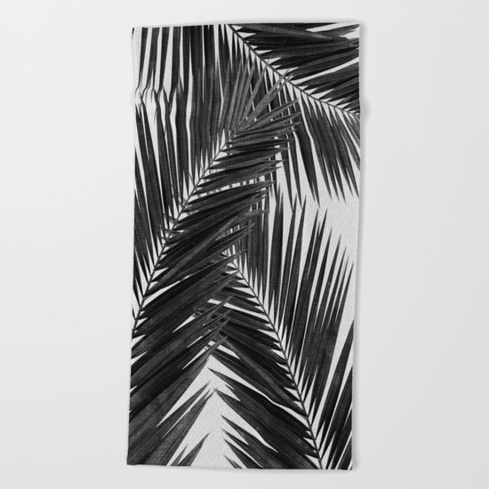 Palm Leaf Black & White III Beach Towel