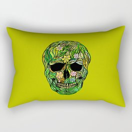 Skull Nature Rectangular Pillow