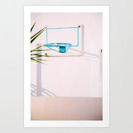 Santorini Basketball Art Print