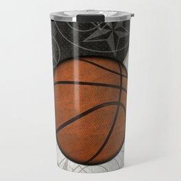 Basketball Stars and Court Team Sports Design Travel Mug