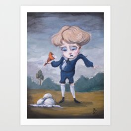 Boring Blue Boy Art Print