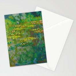 Claude Monet Impressionist Landscape Oil Painting Le Bassin des Nympheas Stationery Cards