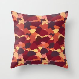 Camouflage in Fall Throw Pillow