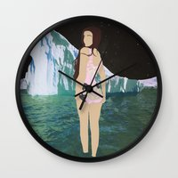 lee pace Wall Clocks featuring Glacial Pace by sens