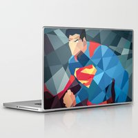 dc comics Laptop & iPad Skins featuring DC Comics Man of Steel by Eric Dufresne