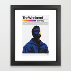 TheWeeknd Framed Art Print