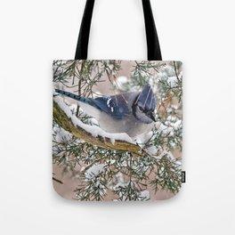Snow Jay Tote Bag