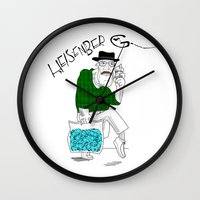 fear and loathing Wall Clocks featuring Fear and Loathing in Albuquerque (Breaking Bad) by Evan