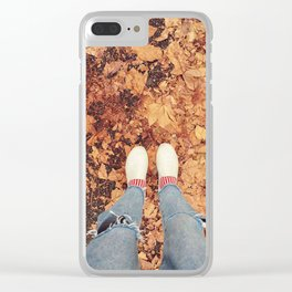Autumn vibe Clear iPhone Case