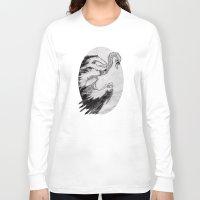 swan Long Sleeve T-shirts featuring swan by vasodelirium