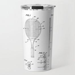 Tennis Racket Patent Travel Mug