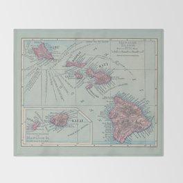 Map of Hawaii Throw Blanket