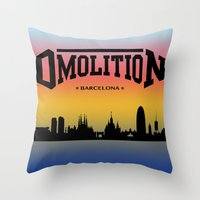 sports Throw Pillows featuring DMolition Sports by DMolition