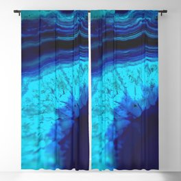 Royal Blue Turquoise Agate Blackout Curtain