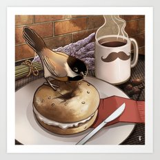 The Bagel Thief Art Print
