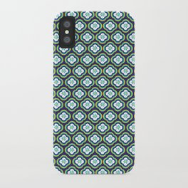 Navy Graphic Flower iPhone Case