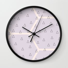 Polygon meets triangle Wall Clock