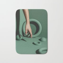 Green abstract background Bath Mat