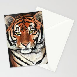 Tiger portrait drawing Stationery Cards