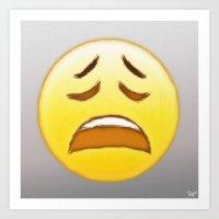 emoji Art Prints featuring Emoji by ivanecky