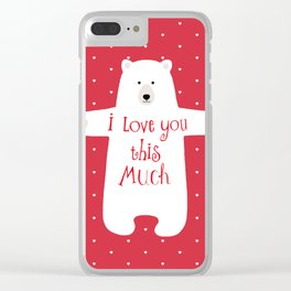 Bear hugs Clear iPhone Case