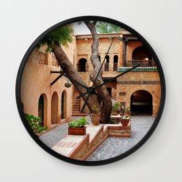 agadir medina courtyard Wall Clock