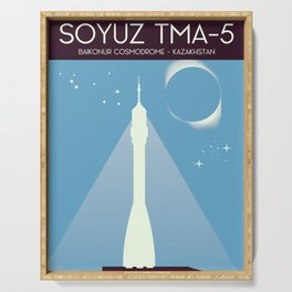 Soyuz TMA-5 Space Art Serving Tray