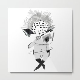Mailing Angel Metal Print