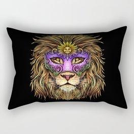 Mardi Gras - Pride Lion With Cute Mask Rectangular Pillow