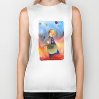 the little prince Biker Tanks featuring Little Prince by Jose Luis Ocana