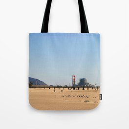 Power Station Beach Tote Bag