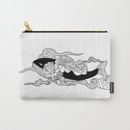 Flying whale flower Carry-All Pouch