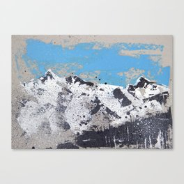 Mountain view from Saas Fee Canvas Print