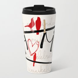 Home Letters Red Bird Clothesline A712 Travel Mug
