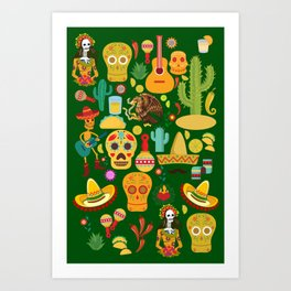 Fiesta Time! Mexican Icons Art Print